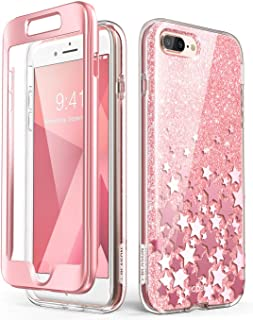 i-Blason iPhone7/8Plus-CosmoV2-SP-Pink Cosmo Glitter Clear Bumper Case for iPhone 8 Plus/iPhone 7 Plus, Pink