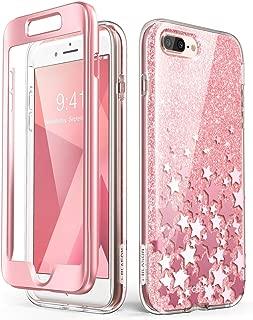 i-Blason Cosmo Glitter Clear Bumper Case for iPhone 8 Plus/iPhone 7 Plus, Pink