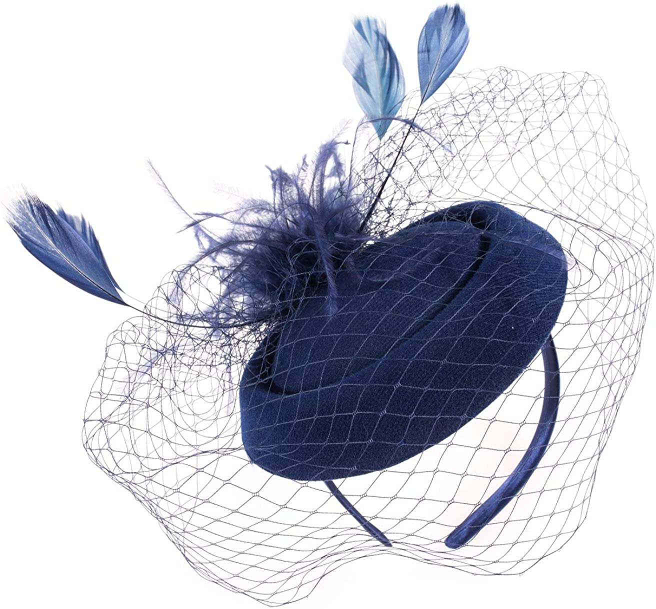 Fascinator Hats Mesh Feather Tea Derby Hat depot Kentucky NEW before selling ☆ Cockta Party