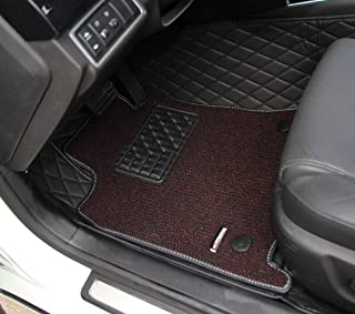 Worth-Mats Custom Fit Double Layer Full Coverage RHD Floor Mat for Mitsubishi Pajero V73 2009-2017 -Black with Black Stitching