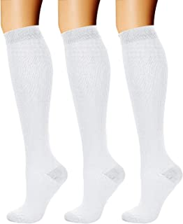 white compression socks