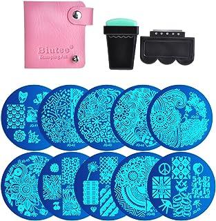 Biutee Nail Art Image Stamp Stamping Plates with Stamper,Scraper and Pack Bag