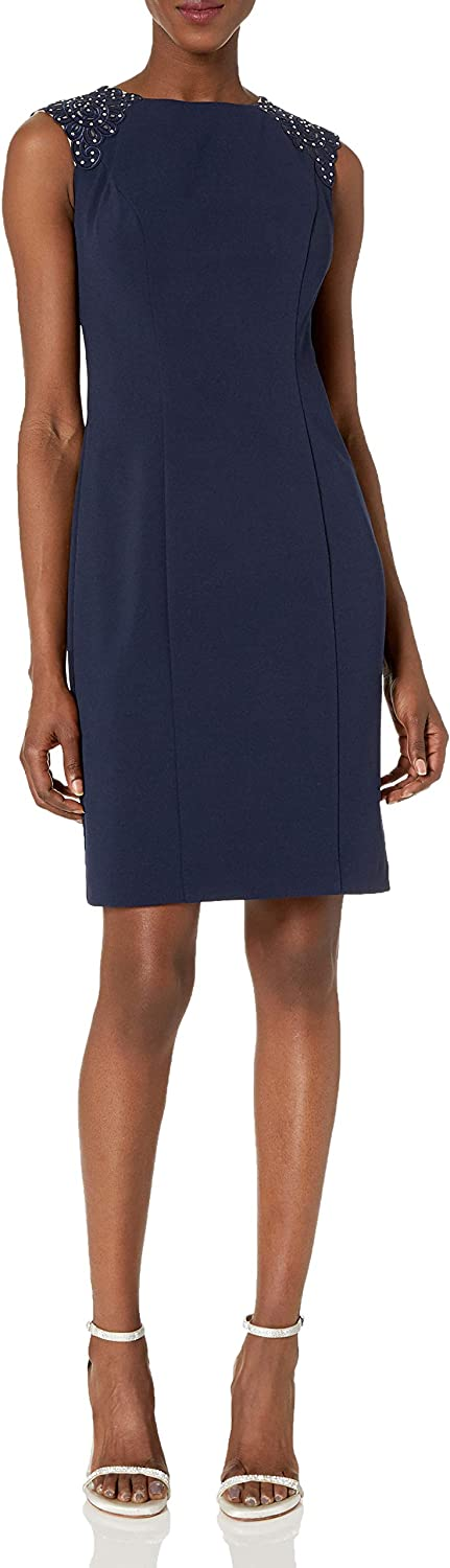Oklahoma City Mall Alex Evenings Women's Short Shift Dress with Special price Shoulder Beaded Det