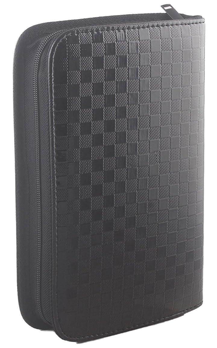 パブ検索エンジン最適化慣れているサロン用ヘアツール収納バッグ、美容道具収納ポーチ、合成皮革黒色 大 (黒色)