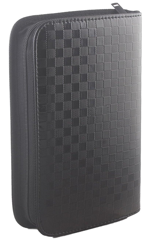 暴露発表このサロン用ヘアツール収納バッグ、美容道具収納ポーチ、合成皮革黒色 大 (黒色)
