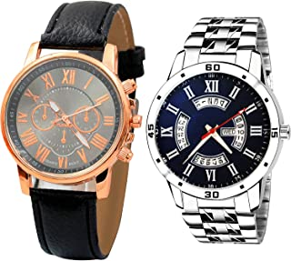 NIKOLA Day and Date Analogue Black and Blue Color Dial Boys Watch - B192-B189 (Pack of 2)