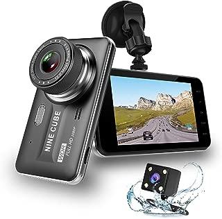 Dual Dash Cam Front and Rear, NINE CUBE 1080p HD Dashboard Recorder,Car Dash Camera 4