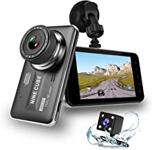 Dual Dash Cam Front and Rear, NINE CUBE 1080p HD Dashboard Recorder,Car Dash Camera 4