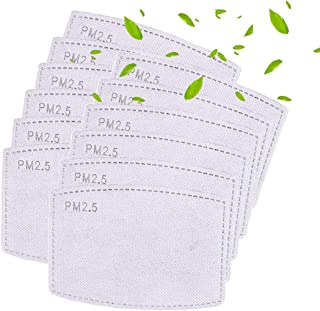 50 filtros de carbón activado Pm2.5 reemplazables, reemplazables, anti niebla, para filtros de piezas protectoras