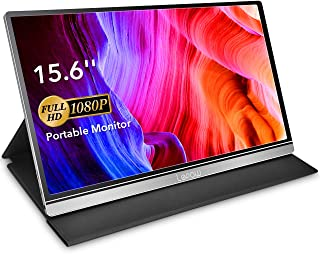 Portable Monitor - Lepow Z1-Gamut (2020) 15.6 Inch FHD 1080P Upgrade Color Gamut Computer Display USB C Eye Care Screen with HDMI Type-C Speakers for Laptop PC MAC Phone Xbox PS4 Include Smart Cover
