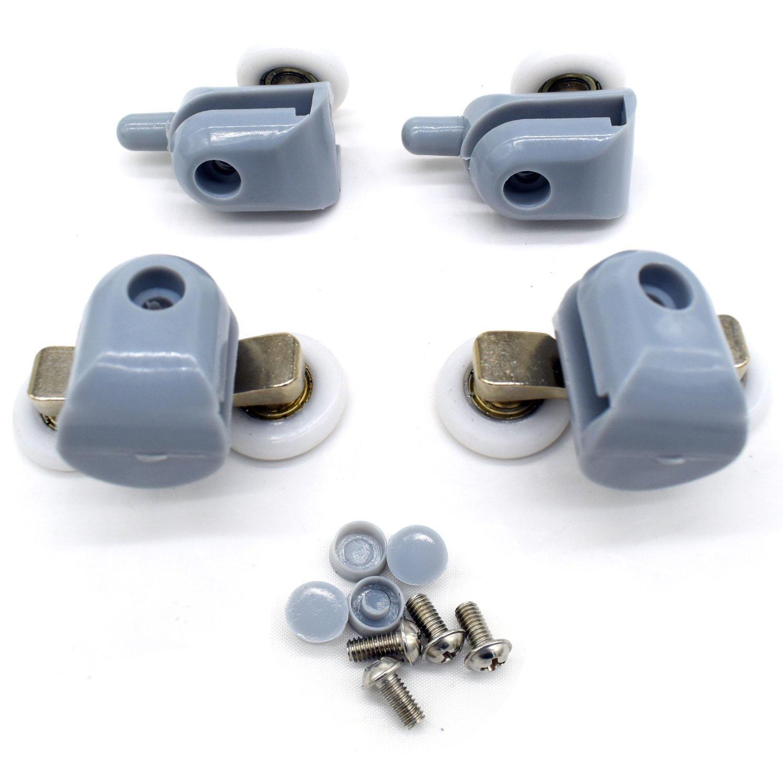 YUANQIAN - 8 ruedas de 25 mm para puerta de cristal de 4 a 6 mm: Amazon.es: Bricolaje y herramientas