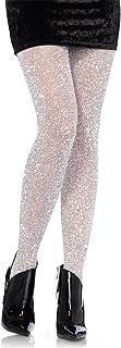 LEG AVENUE LEG AVENUE 7130 - Lurex-Strumpfhose, Einheitsgröße, Silber