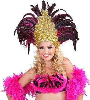 NET TOYS Tocado de Plumas Río Samba Brasil Burlesque Diadema Accesorios Traje