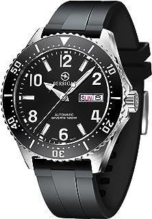Montre Automatique BERSIGAR Automatique pour Homme Montres-Bracelets Mécaniques Décontractées Elégantes avec Verre Saphir ...