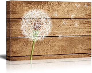 wall26 - Dandelion on Vintage Wood Background - Canvas Art Wall Decor - 24