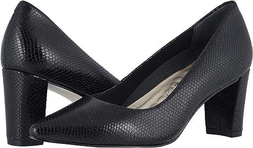 Black Snakeskin Leather