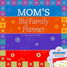 Mom's Big Family Planner 2021 12 x 12 Inch Monthly Square Wall Calendar with Foil Stamped Cover, Planning Organization