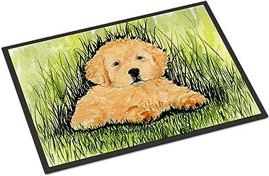 """Caroline's Treasures SS8476MAT Golden Retriever Indoor Outdoor Doormat, 18"""" x 27"""", Multicolor"""