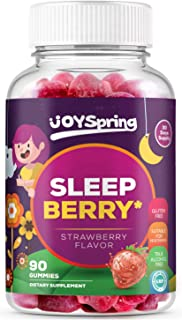 SleepBerry Melatonin Gummies for Kids - Natural Sleep Aid for Toddlers - Helps Children Fall Asleep Fast and Wake Up Rested - Tasty Strawberry Flavor, 5mg