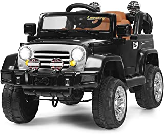 Costzon Ride On Jeep Car, 12V 2WD Powered Truck, Manual/ Parental Remote Control Modes..