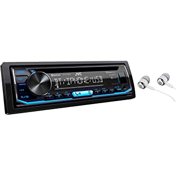 Front USB JVC KD-TD71BT AUX Alexa with Magnet Phone Holder CD Receiver Featuring Bluetooth