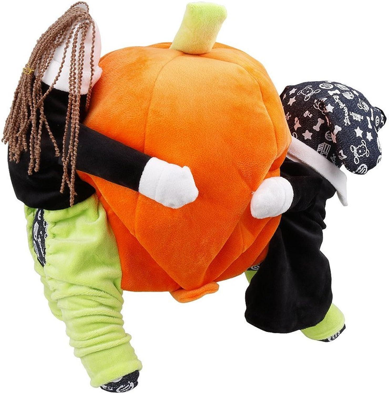 Fangfang Halloween Party Pet Costumes Funny Carrying Pumpkin Clothes Small Dog Cat Apparel (M)