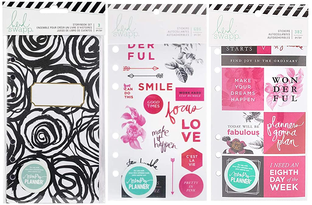 Heidi Swapp Fresh Start - Coordinating Clear Stickers, Card Stock Stickers and Storybook Set (Elegant)