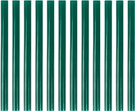 HUIHUIBAO 12 PCS Colored Hot Glue Sticks, Mini Hot Melt Adhesive Glue Stick for DIY Art Craft, 7 x 100mm, Green