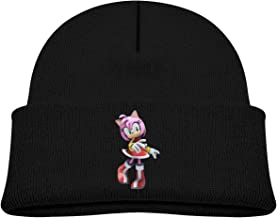 Soft Kids Cap Knitted Hat for Baby with Lovely Sonic Hedgehog 3D Amy Rose Pattern