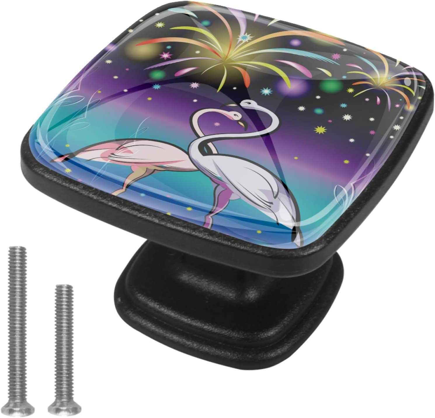 Round Cabinet Cheap mail order specialty store Hardware Knob 4 Excellent Star Pack - Flamingo Firework