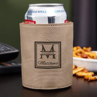 Oakhill Monogrammed Beer Can Cooler, Sand (Personalized Product)