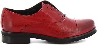 LEONARDO SHOES Luxury Fashion Womens 5240 Red Lace-Up Shoes | Season Permanent