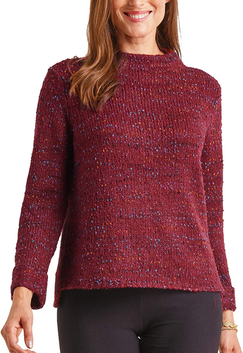 Habitat Some reservation Women's Confetti Funnel XSmall Neck Pullover Sangria Max 84% OFF