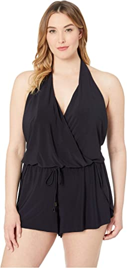 Plus Size Solid Bianca Romper One-Piece