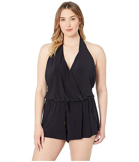 02f5538520 Magicsuit Plus Size Solid Bianca Romper One-Piece at Zappos.com