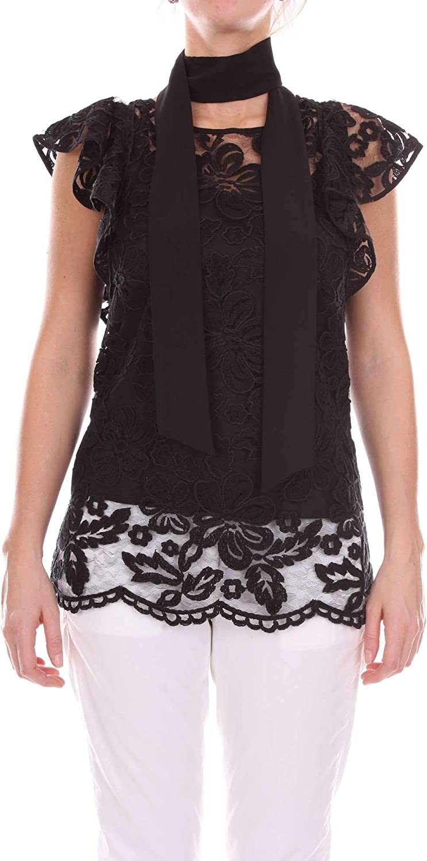 ACCESS Women's 182087425BLACK Black Cotton TShirt