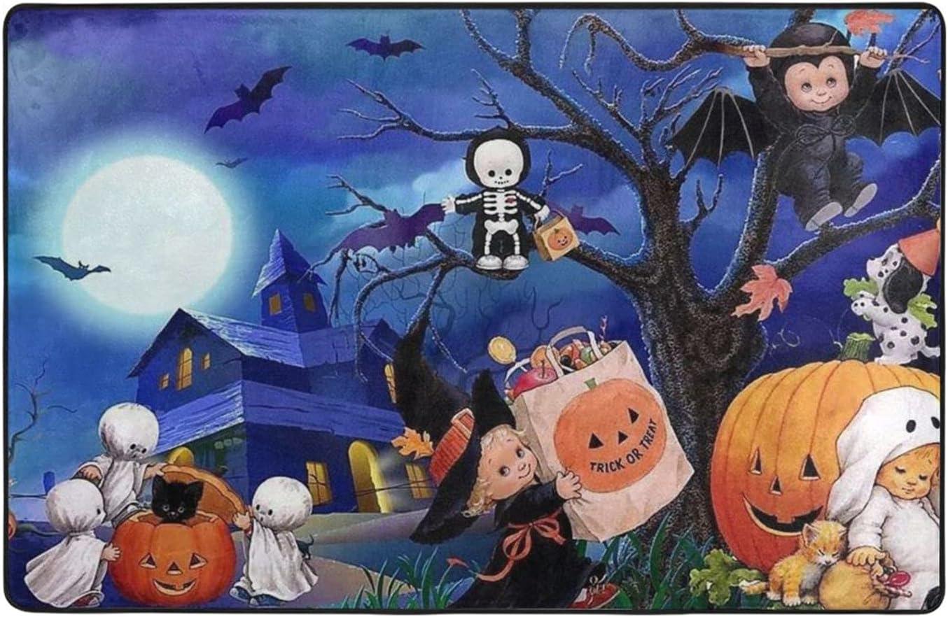 Halloween Ghost Pumpkin Very popular Print 3D Casual Max 40% OFF Modern Rugs Digital Area