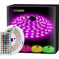 Deals on Minger RGB 16.4ft Waterproof LED Strip Lights
