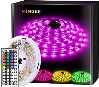 MINGER Led Strip Lights 16.4 Feet, for Room, Bedroom, Home, Kitchen, Bar, Remote Control, RGB