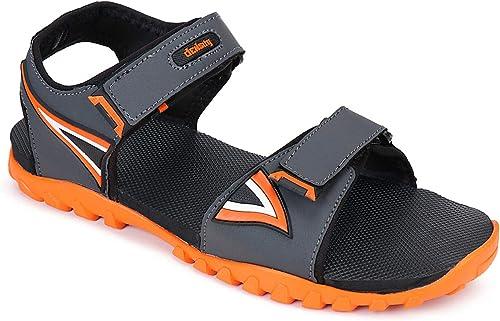 Men S TPR Adjustable Strap Sandle Orange A3