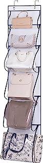 MISSLO Over Door Organizer For Handbags, Caps, Accessories (White)