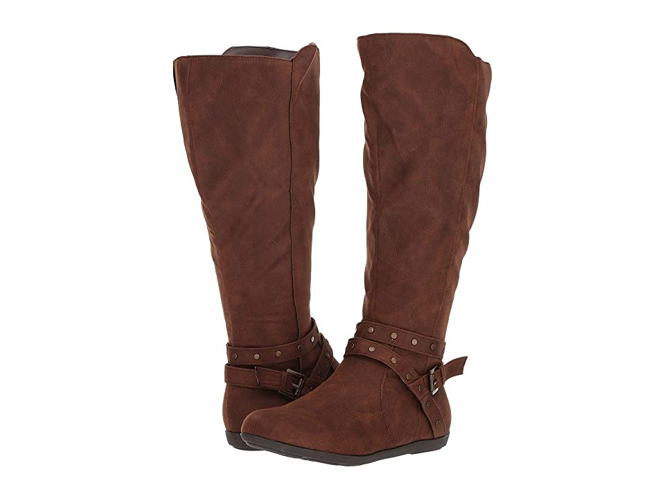 Fergalicious Bridges Wide Calf (Cognac) Women