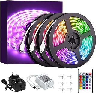 Onforu 50ft RGB LED Strip Lights Kit, 15m Flexible Color Changing Lights Strip, 450 Units 5050 RGB LED Rope Lights with 24...