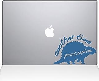 "The Decal Guru 1005-MAC-15X-LB Another Time Porcupine Vinyl Sticker, 15"" Macbook Pro (2016 & newer), Blue"