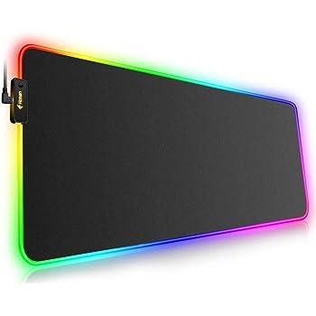 Stylish LED Flash Map Design RGB Desk Anti-slip Pad Gaming Mouse Keyboard Mat QL