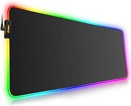 Hcman Alfombrilla de Ratón RGB Juegos Grande,(800×300×4mm) XXL Ampliado Conducido Mousepad con Base de Goma Antideslizante, Alfombrilla de Ratón de Ordenador Suave para MacBook,PC,Portátil