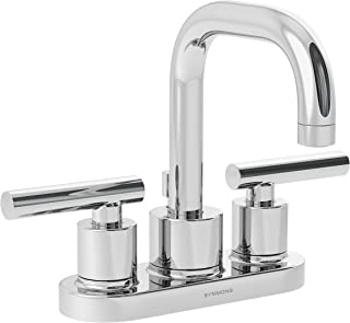 Symmons SLC-3512-1.0 Dia 4 in. Centerset 2-Handle Bathroom Faucet with Drain Assembly in Polished Chrome (1.0 GPM)