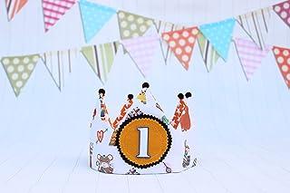 Corona cumpleaños bebés y niños números 1, 2, 3, 4, 5.