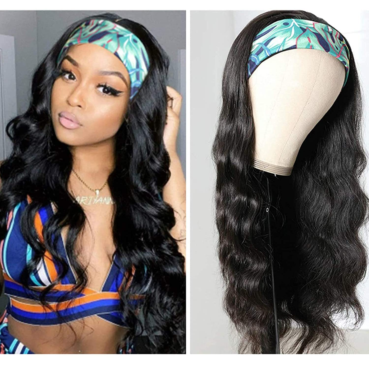 Body Wave Headband Wig Brazilian Remy Human Selling and selling for Women Max 60% OFF Wigs Hair
