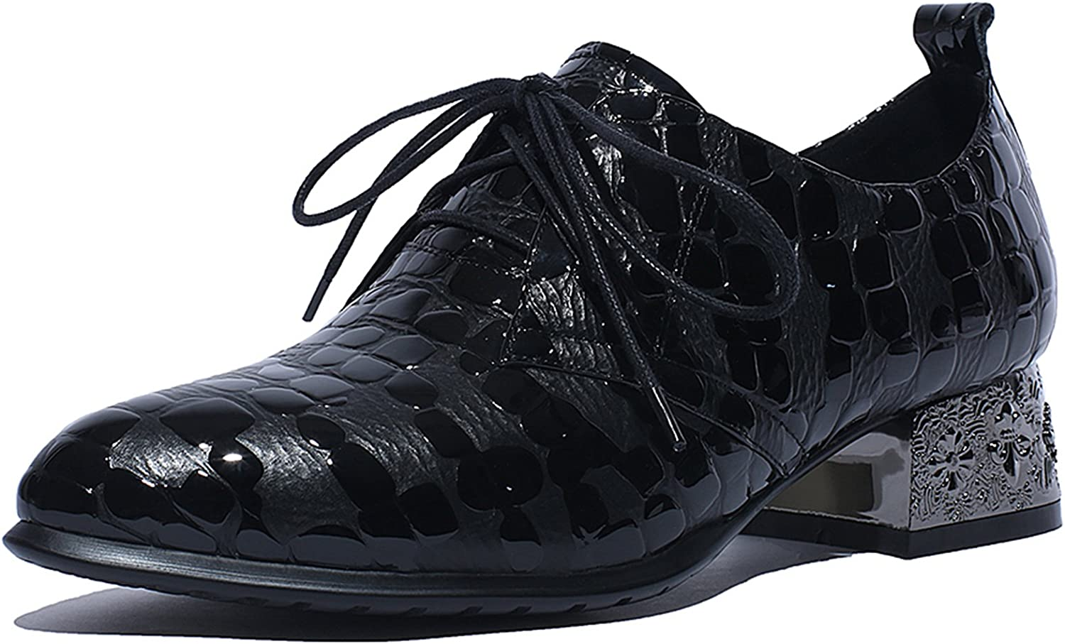 CHENSIR9 Women Leather Dress shoes Laces Girls
